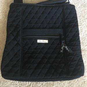 MEMORIAL SALE-Vera Bradley Blck fabric quilted bag